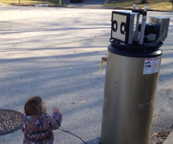 Little Girl's Robot Pal is Alas, Nothing but a Water Heater