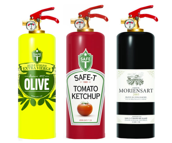 Designer Fire Extinguishers Make Fire Fighting Look Good