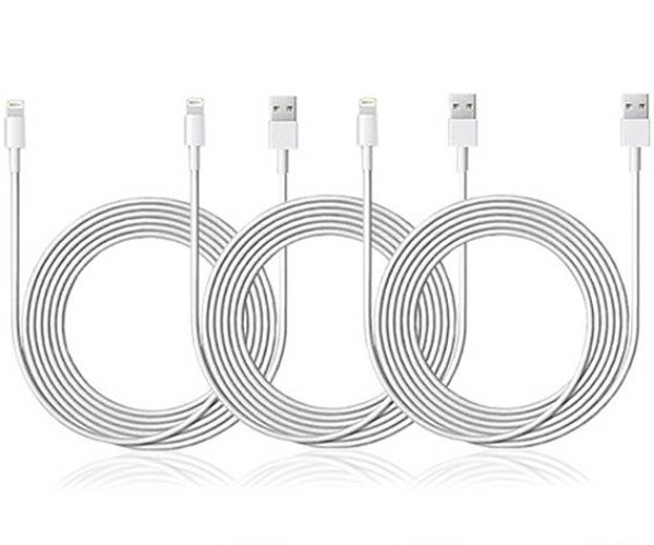 10-Ft Long Lightning Cables Will Have You Covered at Home, in the Car, and in the Office