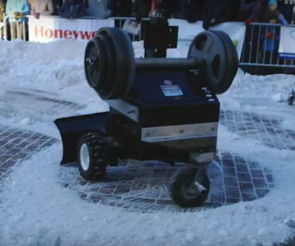 Autonomous Snowplow Robots Compete for Snow-clearing Supremacy
