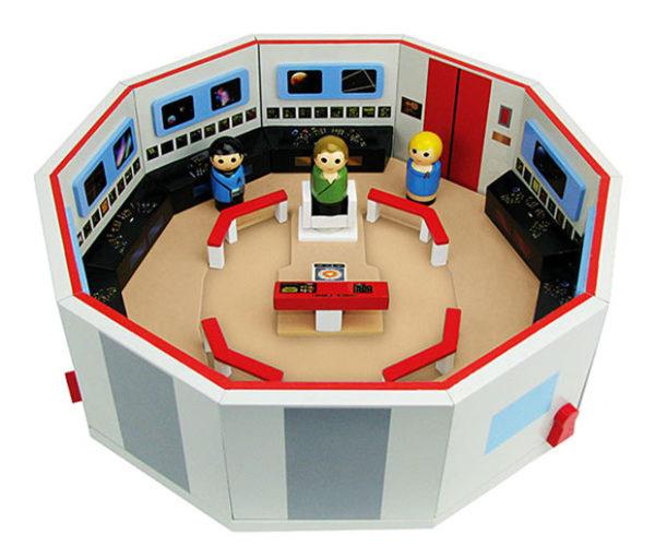 Star Trek: TOS Pin Mate Enterprise Bridge Set Gives You Wood