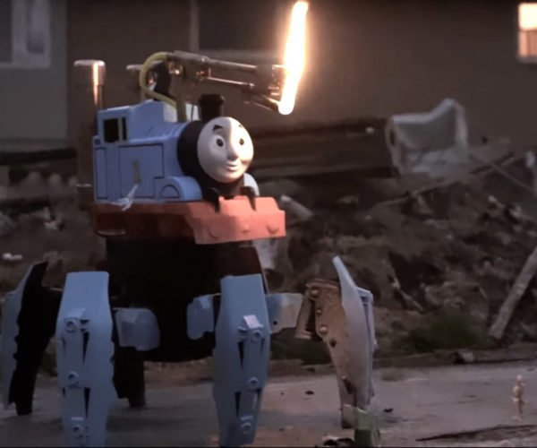 Walking RC Flamethrower: Thomas the Tank Engine of Death