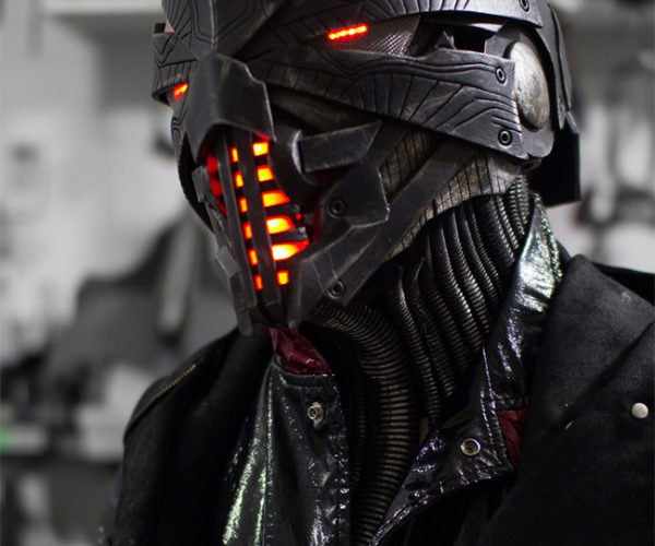 This Incredible Handmade Helmet Will Scare the Bejeezus out of You