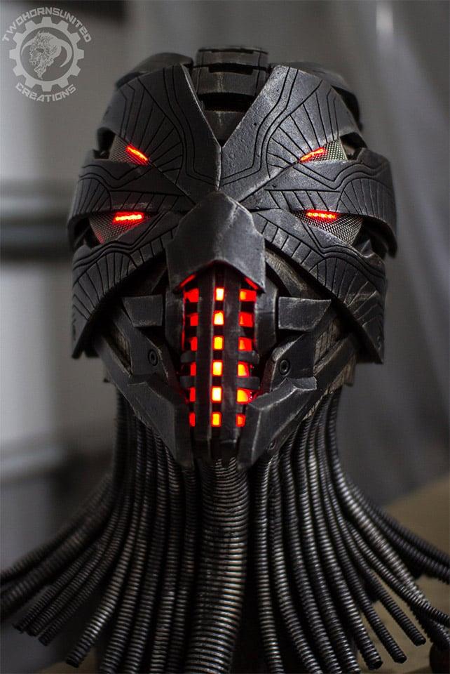 This Incredible Handmade Helmet Will Scare The Bejeezus