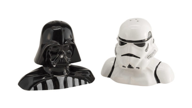 Darth Vader / Stormtrooper Salt and Pepper Shakers Add a Dash of Evil to Any Meal