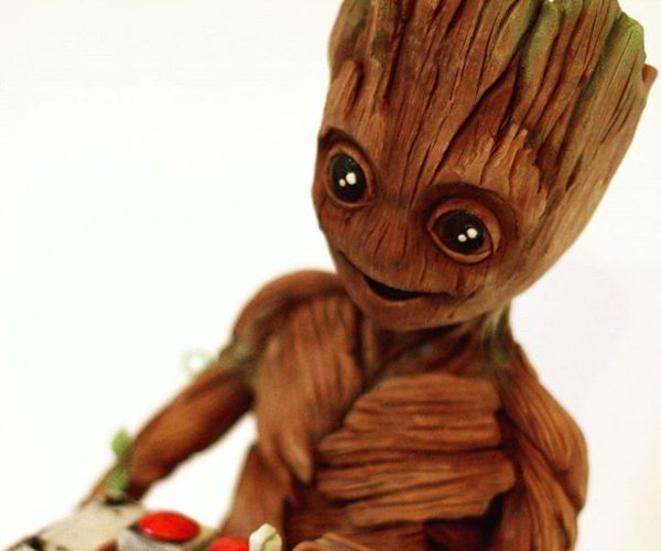 Chocolate Baby Groot Sculpture: I AM SWEET!