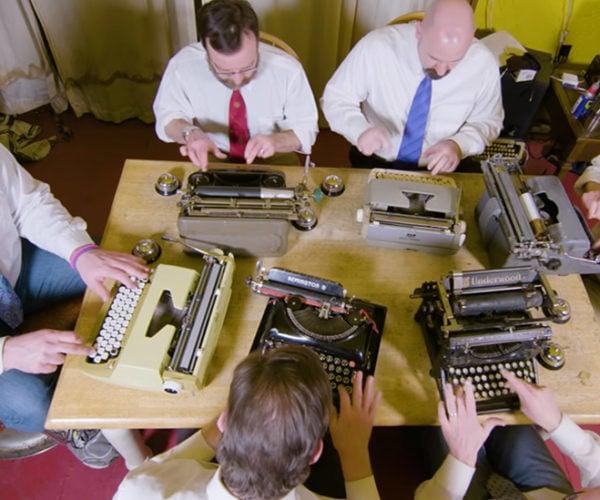 Boston Typewriter Orchestra Makes Music in the Nerdiest of Ways