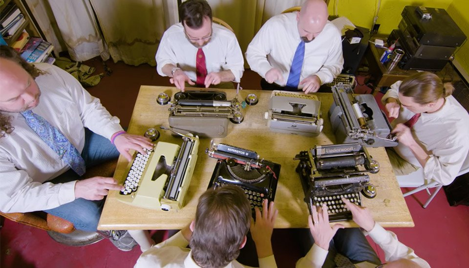 What if the musical group STOMP taught a typewriting class?