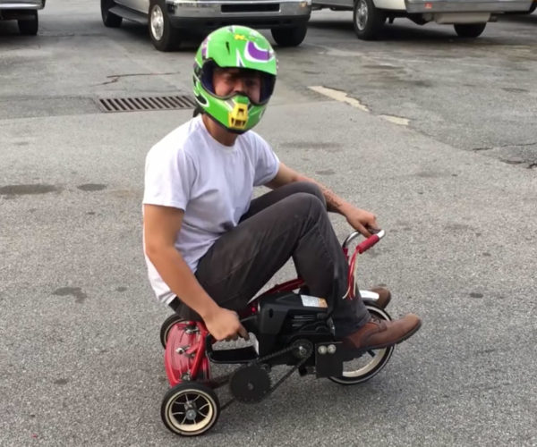 Students Build Chainsaw Powered Tricycle
