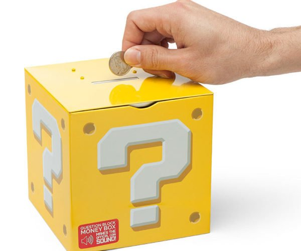 Mario Question Block Piggy Bank Isn't Just for Gold Coins