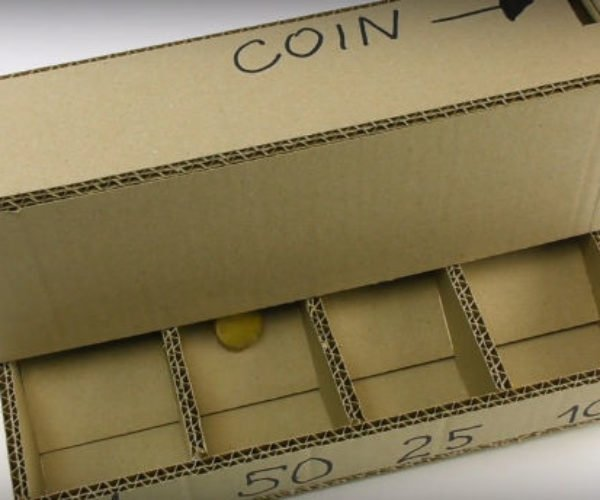 Make Your Own Cardboard Coin Sorting Machine