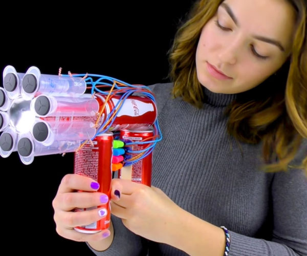 Make a Minigun from Coca-Cola Cans and Syringes