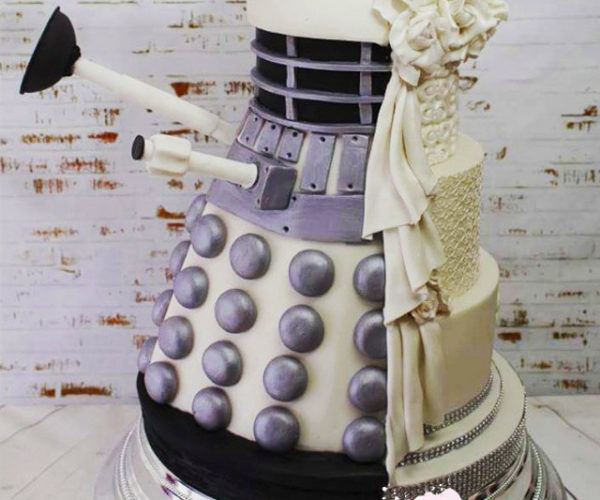 Two-Faced Dalek Wedding Cake