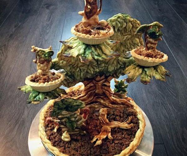 This Deku Tree Piescraper Belongs in Legend of Zelda: The Pie Baker