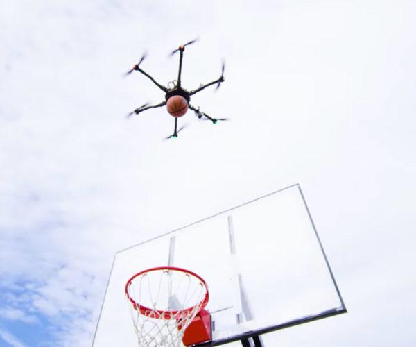 Drones Perform Trick Shots