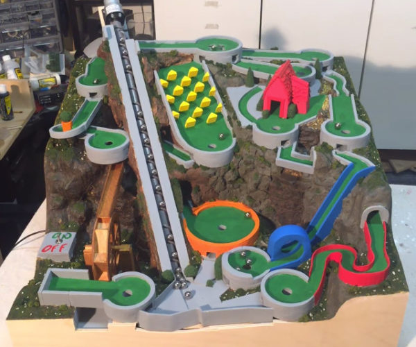 Mini Golf Marble Machine: Perpetual Hole-in-one Machine