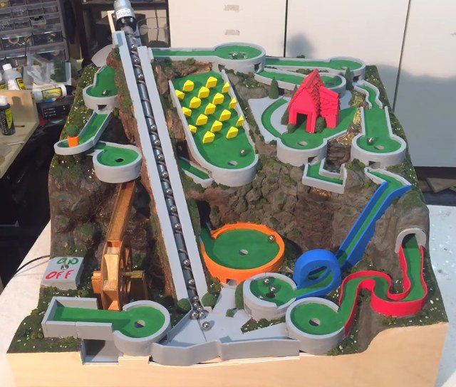 Mini Golf Marble Machine Perpetual Holeinone Machine Technabob