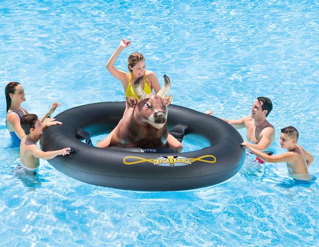 Inflatabull Bull Riding Pool Float Ride Or Drown Technabob