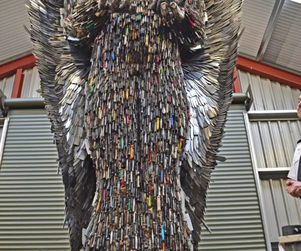 This Angel Statue Was Made from 100,000 Knives
