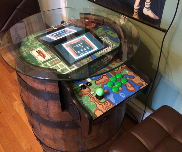 Legend of Zelda Barrel Arcade Machine: If Donkey Kong and Link Had a Kid