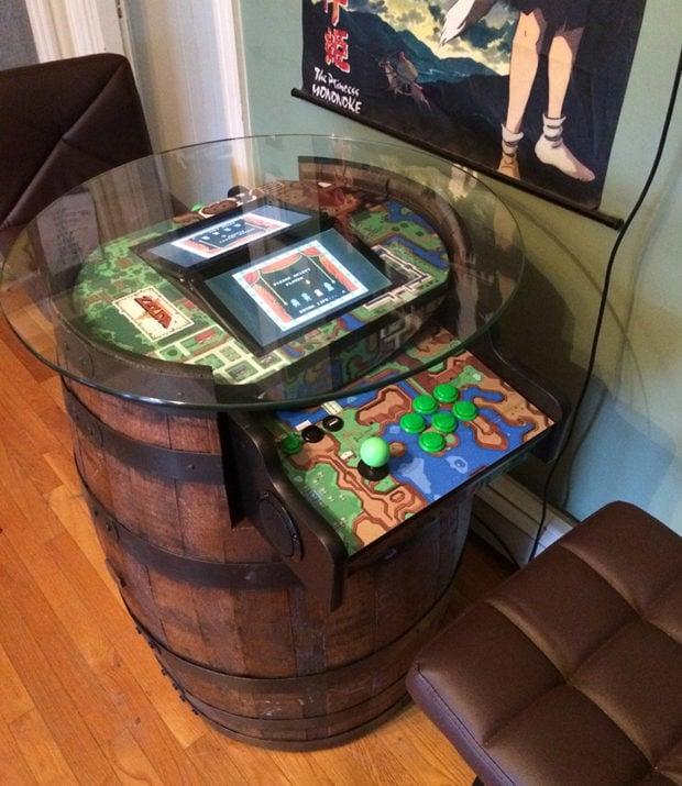Legend Of Zelda Barrel Arcade Machine If Donkey Kong And