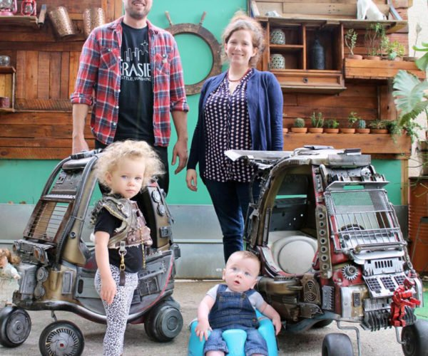 Guy Builds Mad Max Cars for His Toddlers