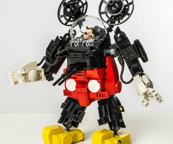 This LEGO Mickey Mouse Mecha Is Ready to Pulverize Pete