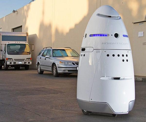 Drunk Guy Tackles Robot, Robot Calls for Help