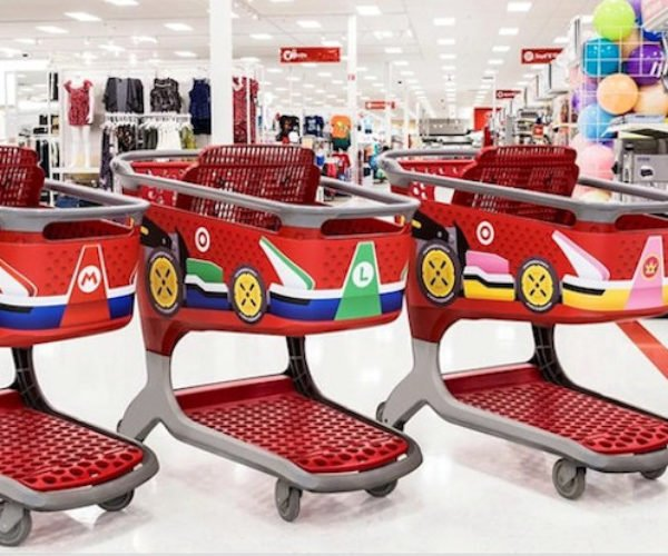 Target Celebrates Mario Kart 8 with Mario Shopping Karts
