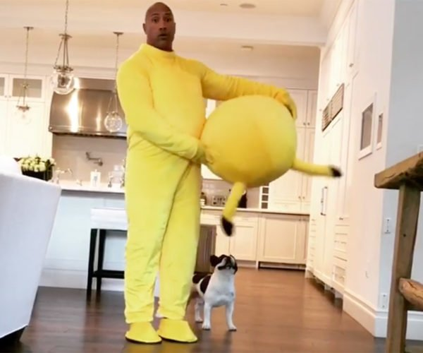 The Rock Celebrates Easter Dressed as Pikachu