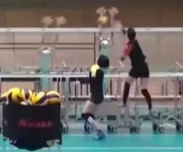 Robots Help Japan's Volleyball Team Test Their Spikes