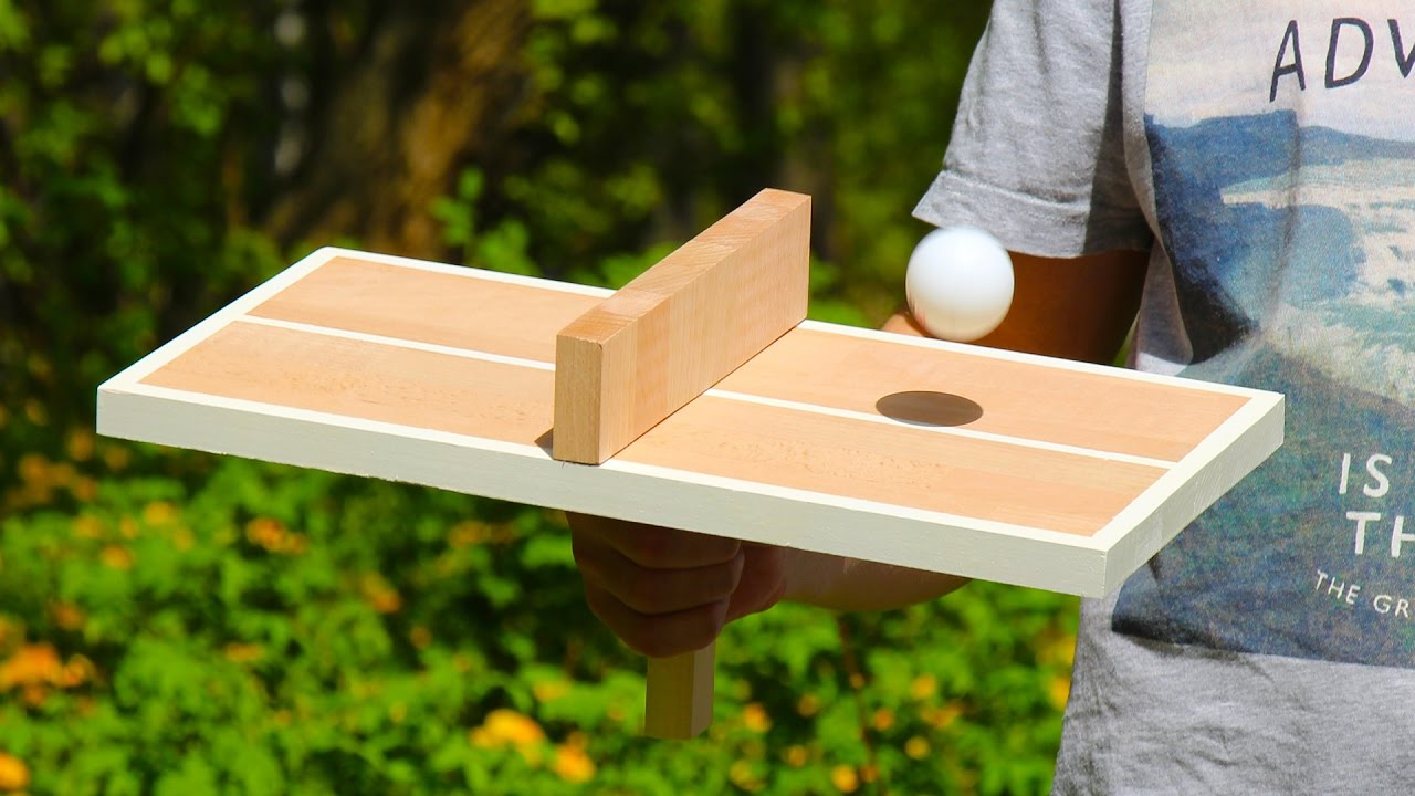 Check Out The Video Below As The Q Demonstrates How To Make A Wooden Table  Tennis Game For One Person. You Control Both Players. Which Means That You  Always ...
