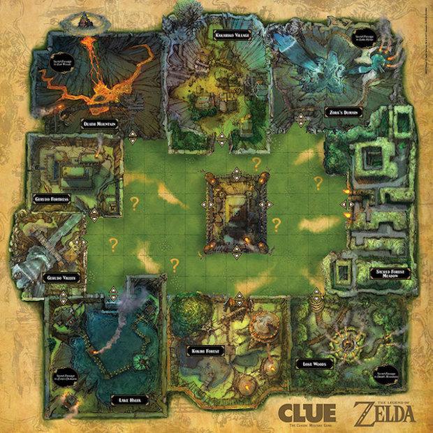 The Legend of Zelda Clue Board Game: It's Dangerous to Go