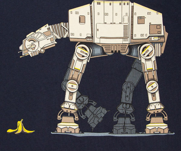 AT-AT vs. Banana Peel Shirt Highlights Glaring Imperial Design Flaw