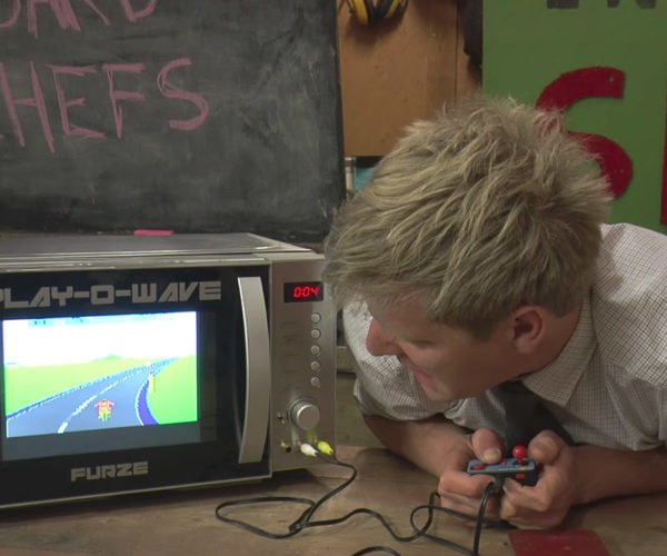 Colin Furze Makes Microwave That Plays Video Games While You Wait