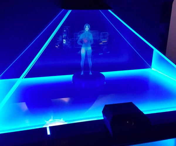 Guy Builds Holographic Cortana Appliance: Halo IRL