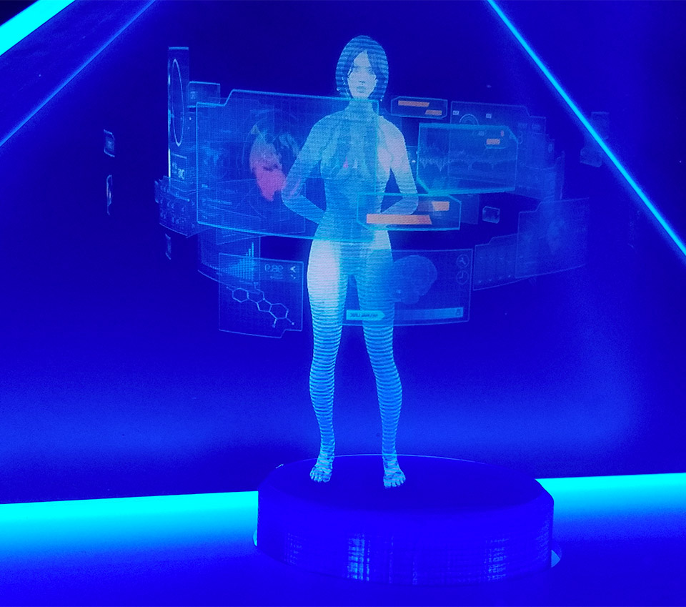 Guy Builds Holographic Cortana Appliance: Halo IRL - Technabob