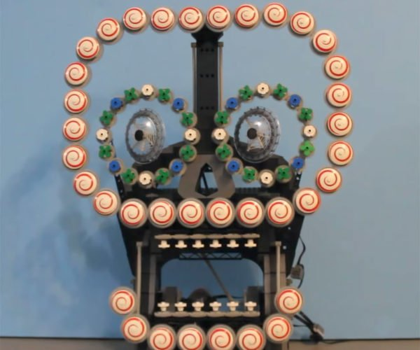 This Sugar Skull Automaton Is Made Of LEGO Pieces