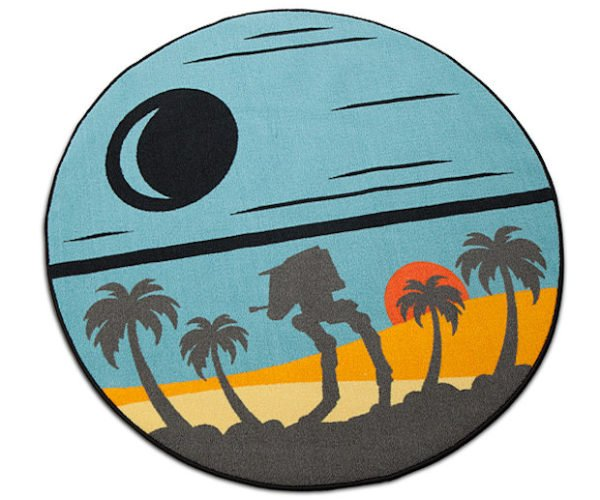 Star Wars Rogue One Scarif Round Rug: The Death Star Plans are on the Beach!