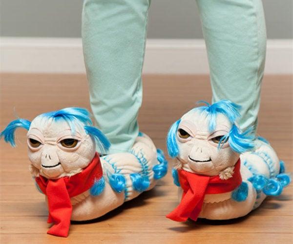 Labyrinth 'Ello Worm Plush Slippers Keep Feet Weirdly Warm