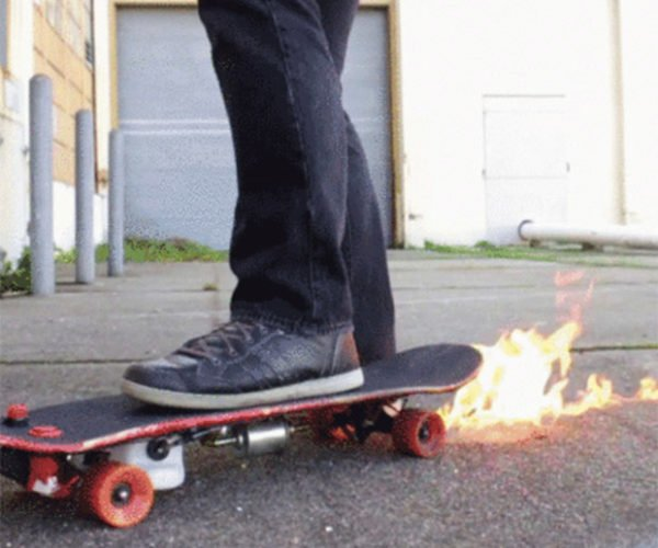 This Skateboard Shoots Flames