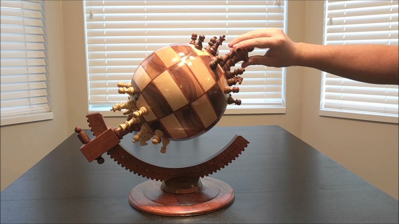 Flat Earthers Will Hate This Wooden Globe Chess Set