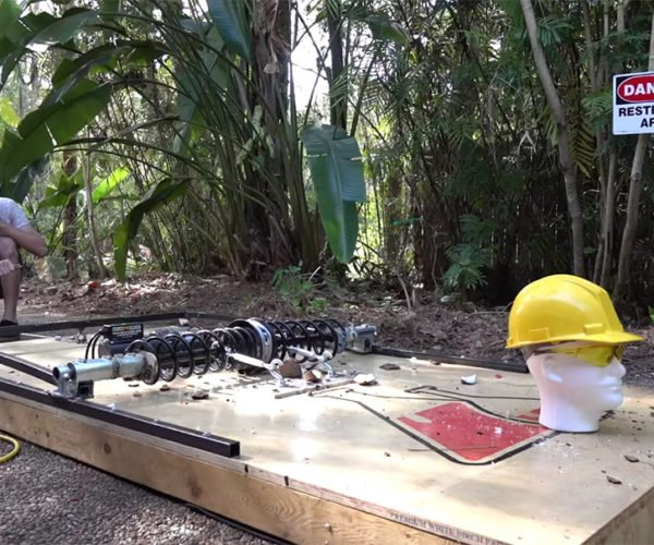 Guy Builds Human-size Mousetrap, Mice Rejoice