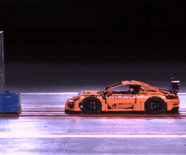 LEGO Porsche 911 GT3 Subjected to Real Crash Test