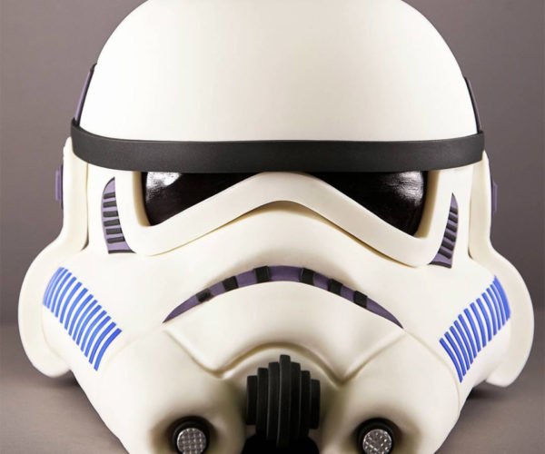 Realistic Stormtrooper Helmet Cake: Imperial Edible