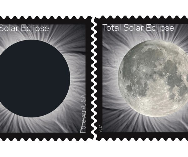 Heat-Activated Total Solar Eclipse Stamps Reveal What's Blocking the Sun