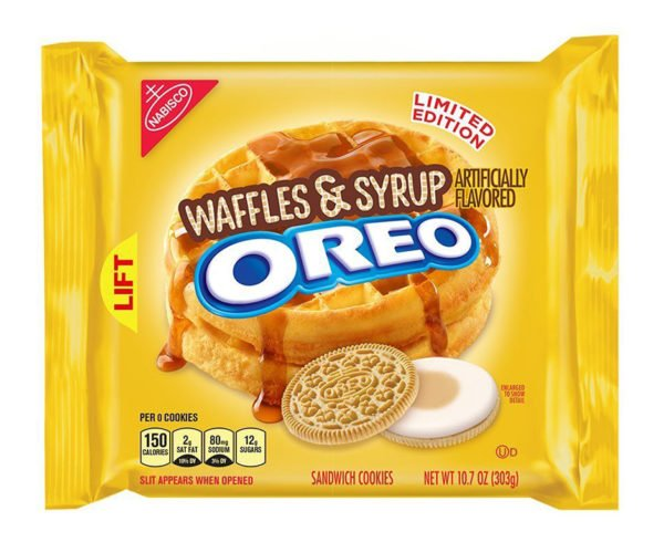 Waffle and Syrup Oreos: Part of a Not-So-Nutritious Breakfast