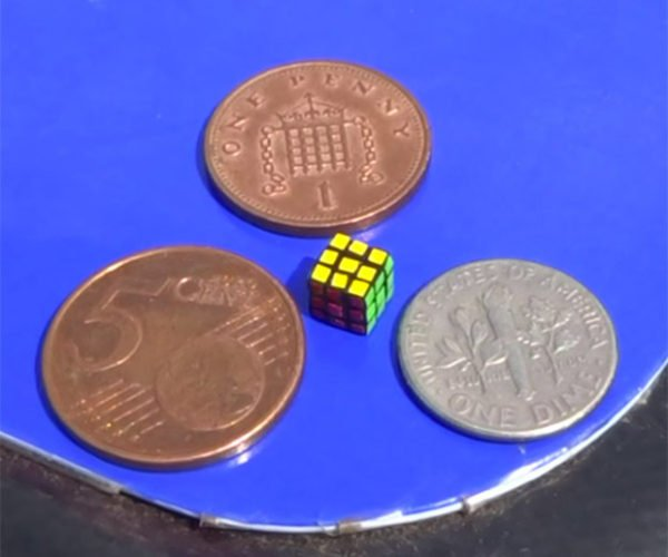 You Need Tweezers to Solve the World's Smallest Rubik's Cube