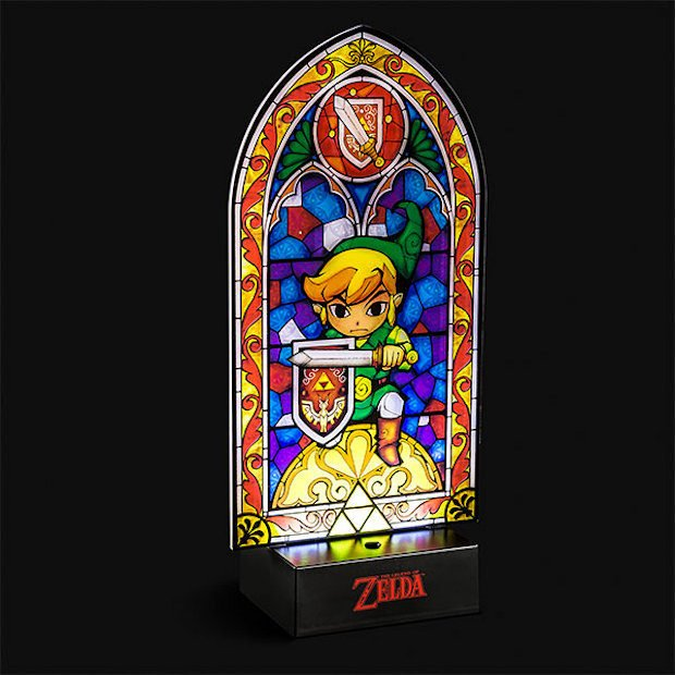 Legend of Zelda Stained Glass Light All Are Welcome in the Church of Nintendo & zelda_lamp_1-620x620.jpg