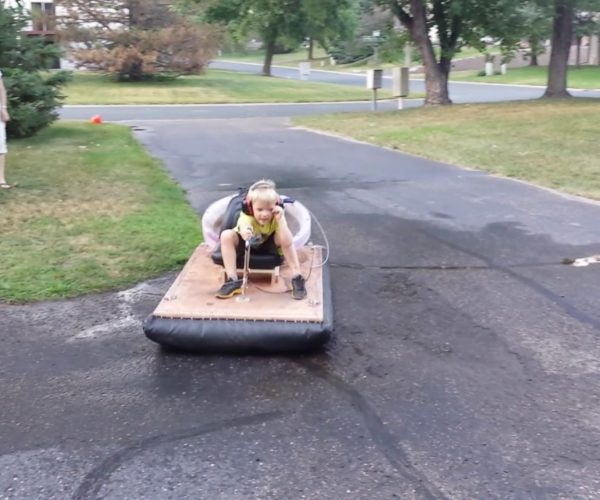 Dad Built His Son a Working Hovercraft